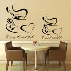 wall decor stickers shopping design cheap vinyl home decoration coffee cup