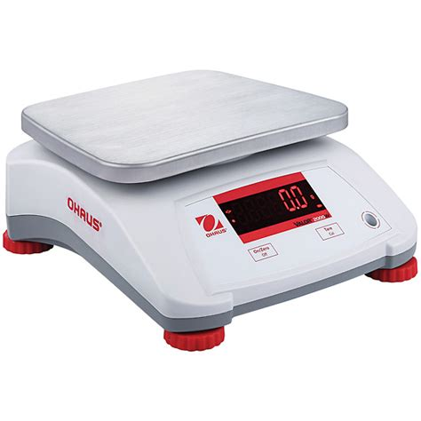 ohaus bench scale ohaus valor 2000 pw compact bench scale 30kg x 5g from davis instruments