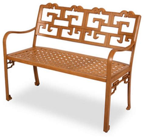 asian storage bench dynasty aluminum bench asian outdoor benches by