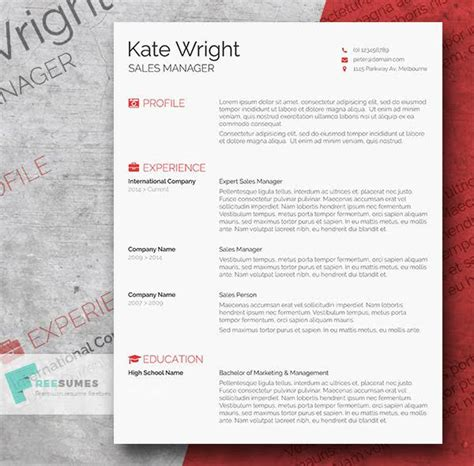 85 free cv indesign resume templates in ai html amp psd
