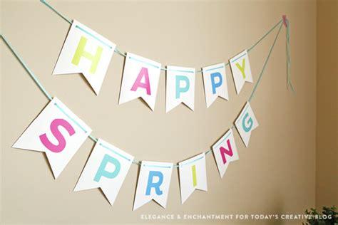 printable banner spring happy spring bunting free printable