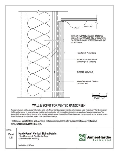 Section Screen by Hardiepanel Siding Details Wood Framing With Wood Furring
