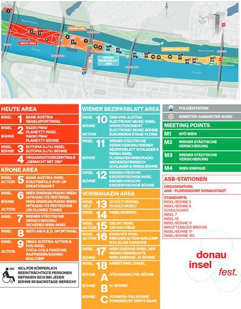donauinselfest plan 2018 alle b 252 hnen und stationen