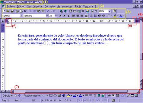 barra superior word procesador de palabras word