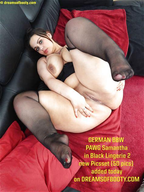 German Bbw Pawg Samantha In Black Lingerie 2 2 Pics