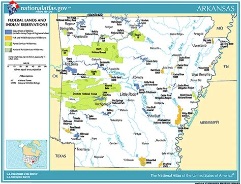 arkansas indian tribes map printable maps federal lands