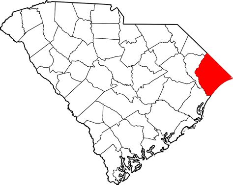 Horry County Sc Records File Map Of South Carolina Highlighting Horry County Svg Wikimedia Commons