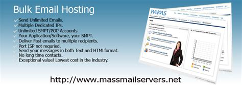cheap mail hosting bulk email smtp server for rent dedicated email server