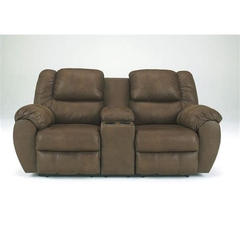 microfiber dual reclining loveseat bowery hill signature design by double microfiber