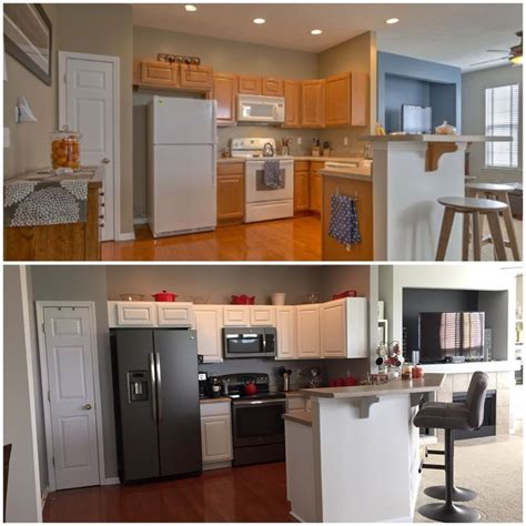 slate grey kitchen cabinets before after oak cabinets to white cabinets white