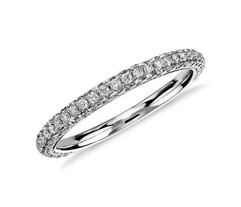 infinity twist micropav wedding ring lhuillier trio micropav 233 ring white gold