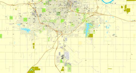 us vector map 2 topeka kansas us exact vector city plan map v2