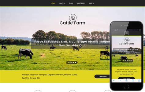 free bootstrap templates for agriculture cattle farm an agriculture category flat bootstrap