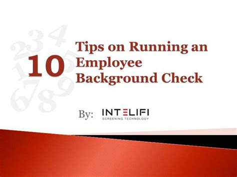 Running A Background Check Tips On Running An Employee Background Check Authorstream