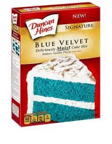 signature blue velvet cake mix duncan hines 174