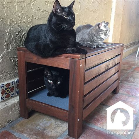 cat bench hauspanther hack easy diy cat hideaway with 196 pplar 214 bench