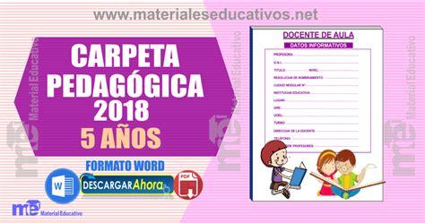 modelo de carpeta pedagogica de educacion inicial girls carpeta pedag 211 gica 5 a 209 os 2018