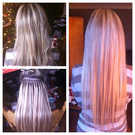 fusion hair extensions before and after hot fusion extensions love beauty
