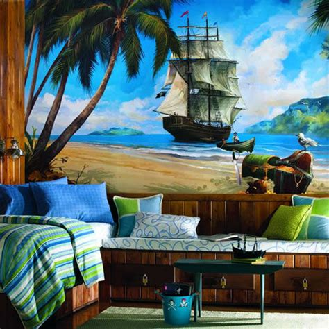 pirate wall murals wall sticker outlet decorating a pirate themed bedroom