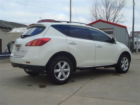 nissan murano gas type find used 2009 nissan murano 41 068 pearl white