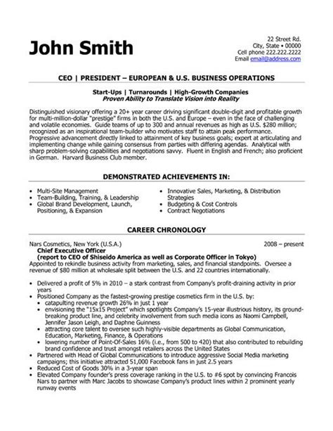resume templates ceo 48 best images about best executive resume templates
