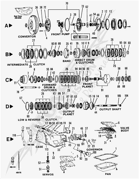 turbo  thc automatic transmission parts  diagram