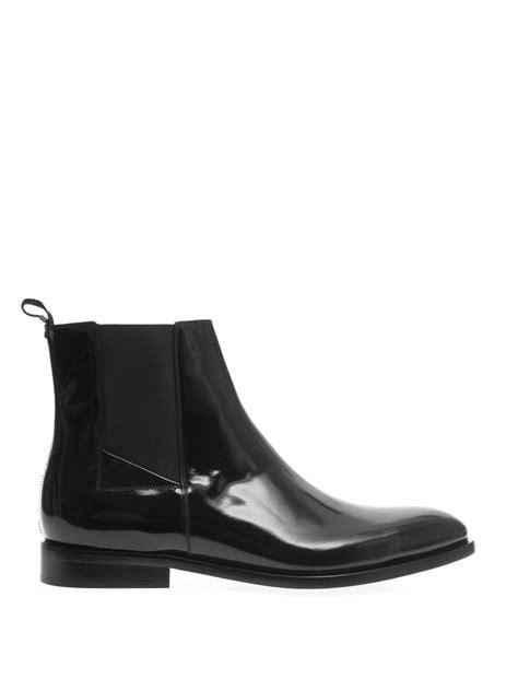 balenciaga boots mens balenciaga highshine leather chelsea boots in black for