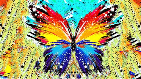 Home Design Game 3d abstract paint splatter butterfly wallpapers hd