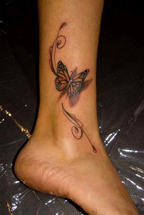 butterfly ankle tattoos 50 absolutely gorgeous butterfly tattoos