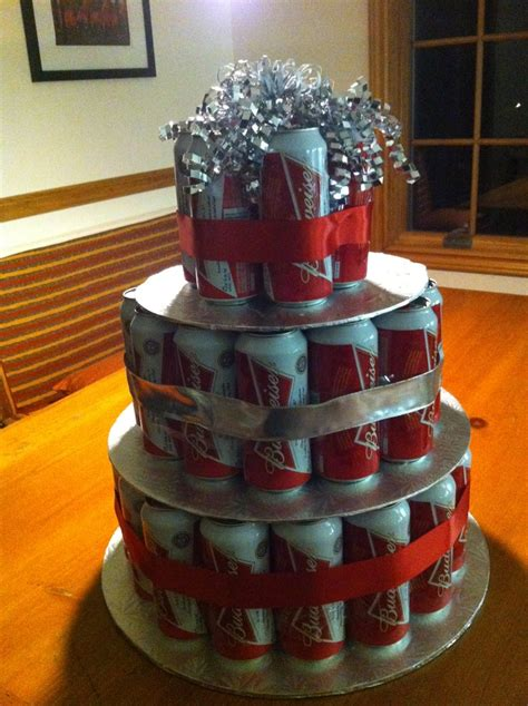 can cake budweiser can cake colin s birthday cake tried it