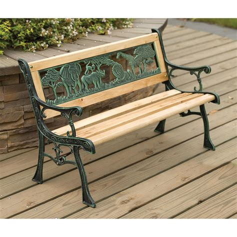 childs wooden bench b m gt kids wooden safari bench 297641
