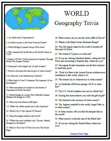 quiz questions nz geography world geography trivia will test your school days memory