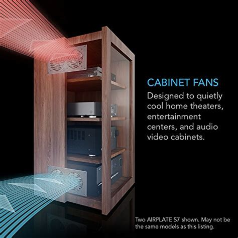 home entertainment fans ac infinity airplate s3 quiet fan system 6 quot with