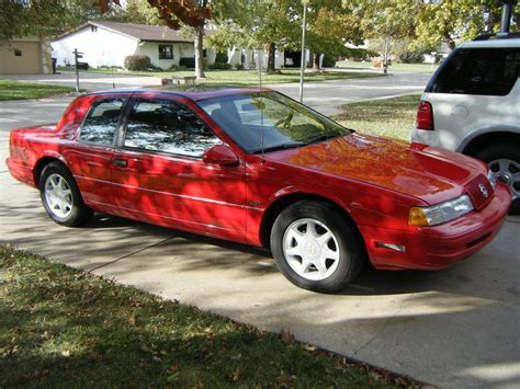 red 1990 mercury cougar xr 7 sedan 2 door 3 8l supercharged automatic ride 26774