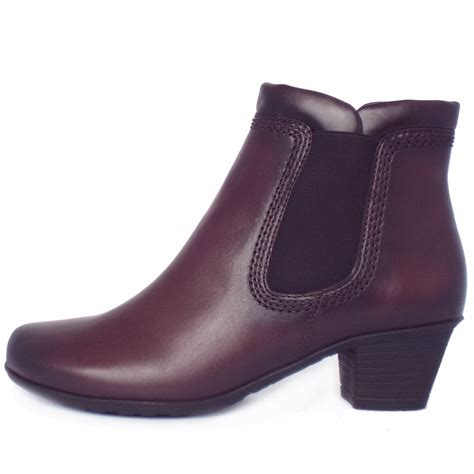 wine boots sound winter ankle boots in wine leather