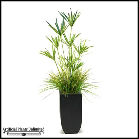 Grass Planter by Yucca And Grass In Metal Planter 5 5