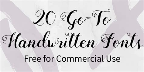 How To Use Home Design Studio by 20 Go To Handwritten Fonts Free For Commercial Use