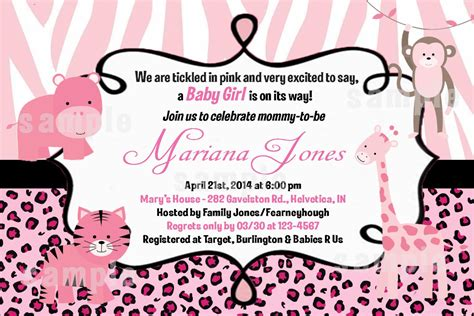 Pictures For Baby Shower Invitations Free by Safari Baby Shower Invitations Template Free Images Baby