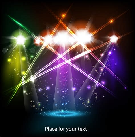 lighting images bright stage lighting effects 01 vector free vector 4vector