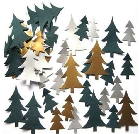 mini christmas tree pre cut card shapes seasonal craft