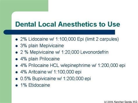 Local Dental Anethesia Detox by 418 Medicine Iii Hospital Clerkship Program Academic