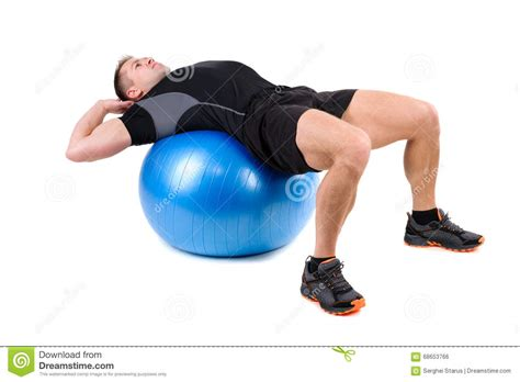 abdominal fitball exercises stock photo image  start abdominal