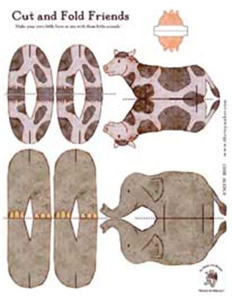 printable folding zoo animals animal friends
