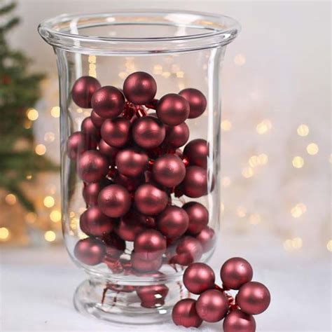 Burgundy Vase Fillers by Matte Burgundy Glass Ornament Picks Vase Fillers Table