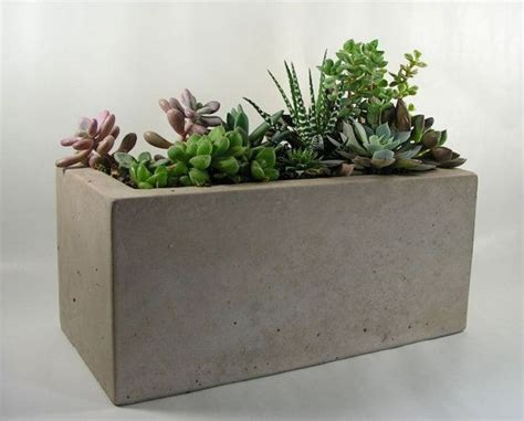 concrete planter rectangular concrete planter