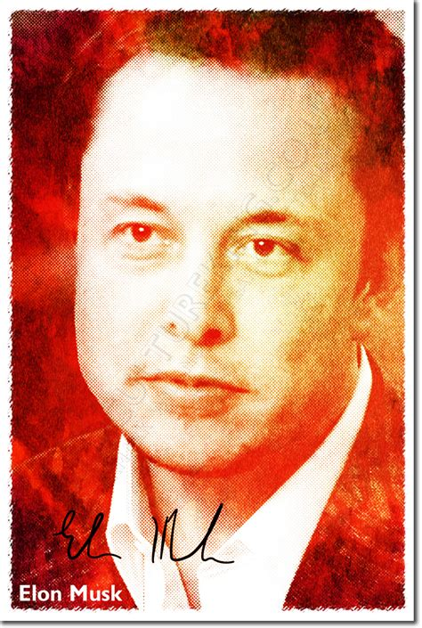 elon musk biography ebay elon musk signed photo print autograph poster gift spacex