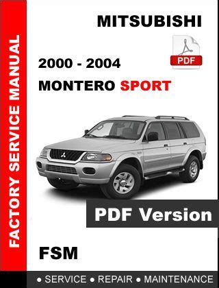 electric and cars manual 2004 mitsubishi montero on board diagnostic system 2000 2001 2002 2003 2004 mitsubishi montero sport factory