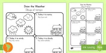 weather pattern in spanish draw the weather worksheet activity sheet us english spanish