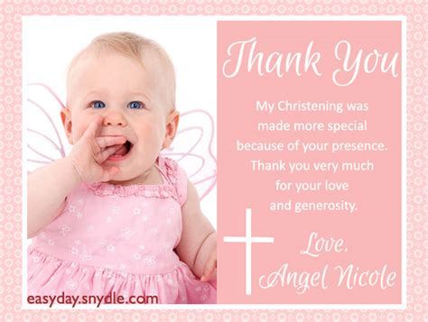 thank you card baptism template powerpoint baptism thank you messages easyday