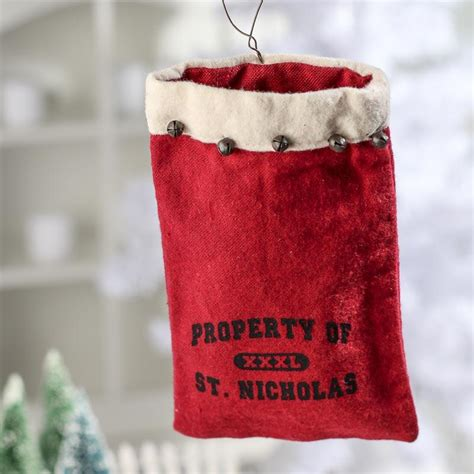 Gift Card Bag - quot property of st nicholas quot gift card bag christmas ornaments christmas and winter